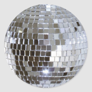 Mirrored Disco Ball Classic Round Sticker