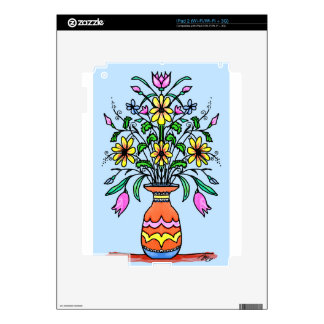 Mirrored flowers and vase decals for the iPad 2