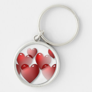 Mirrored Hearts Keychain