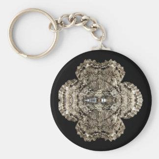 Mirrored Moth Keychain