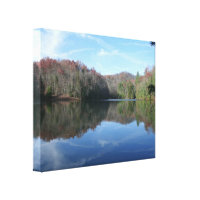 Mirrored Mountain Lake Gallery Wrap Canvas