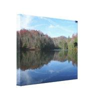 Mirrored Mountain Lake Gallery Wrap Canvas
