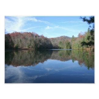 Mirrored Mountain Lake Photo Art