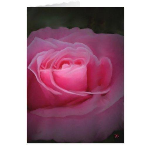 Mirrored Pink Rose Card