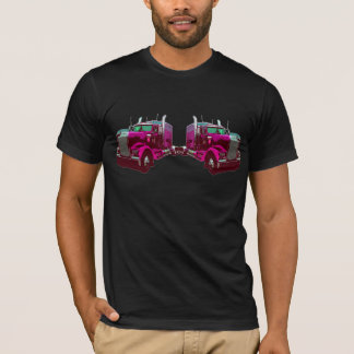 Mirrored Pink Semi Truck T-Shirt