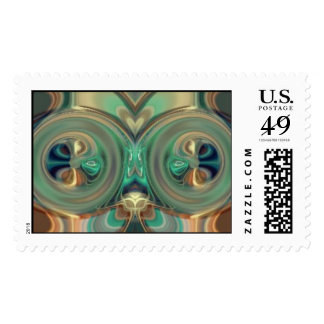 Mirrored Postage Stamp