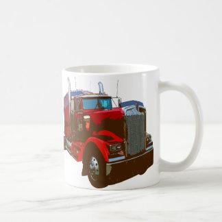 Mirrored Red Semi Truck Coffee Mug