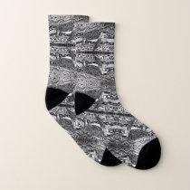 Mirrored Sea Turtles Patterned Socks