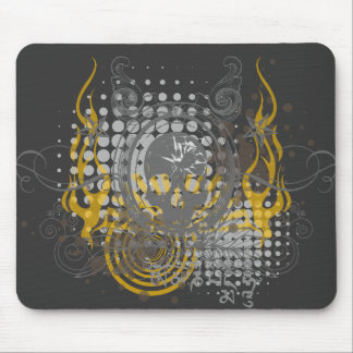 Mirrored Skull. Mouse Pad