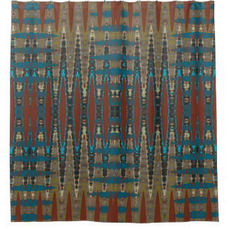 Brown And Turquoise Shower Curtains Zazzle