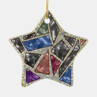 mirrored star ceramic ornament