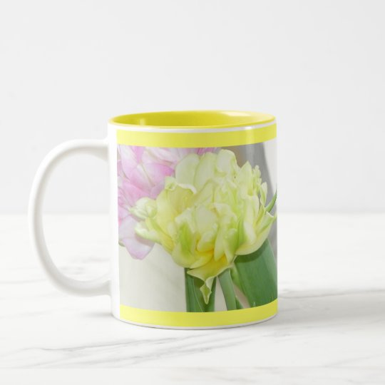Mirrored Yellow Flower Mug