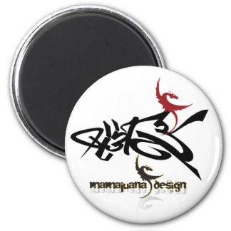 mirrow, logo two, sign logo refrigerator magnet