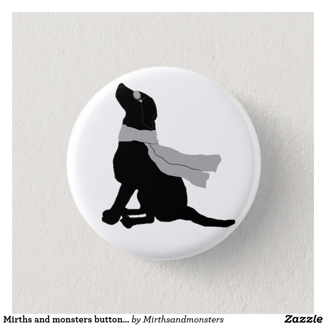 Mirths and monsters button-Finn silhouette