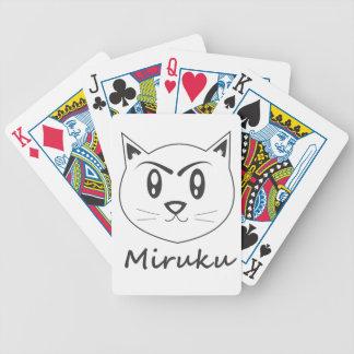 Miruku lindo el gato blanco Shiro Neko Baraja De Cartas