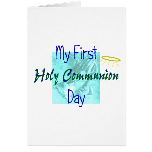 Mis 1ras camisetas del día de la comunión santa tarjeton