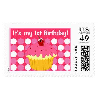 Mis 1ros sellos de los E.E.U.U. del cumpleaños