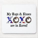 Mis abrazos y besos están en Corea Alfombrilla De Raton