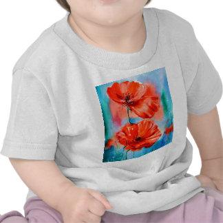 Mis amapolas en la floración camiseta