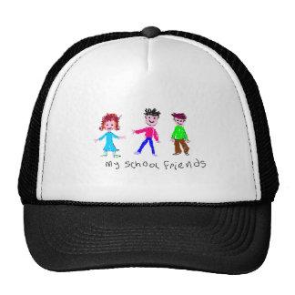 Mis amigos de la escuela - dibujo de s gorras