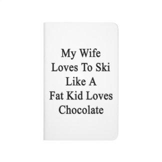 Mis amores de la esposa al esquí tienen gusto de cuaderno grapado