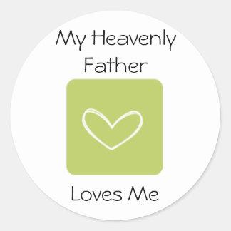 Mis amores de padre divinos yo LDS primario Pegatina Redonda