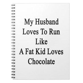 Mis amores del marido a correr como un niño de la notebook
