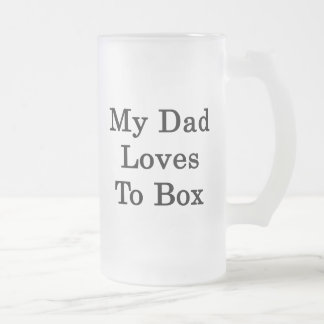 Mis amores del papá a la caja taza cristal mate