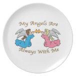 Mis ángeles están siempre conmigo plato de comida