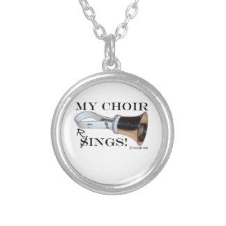 Mis anillos del coro colgante redondo