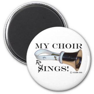 Mis anillos del coro imán redondo 5 cm
