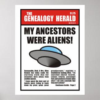 ¡Mis antepasados eran extranjeros Posters