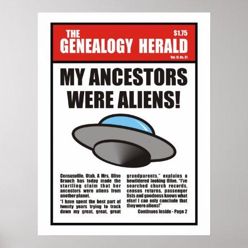 ¡Mis antepasados eran extranjeros! Posters