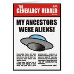 ¡Mis antepasados eran extranjeros! Tarjeta