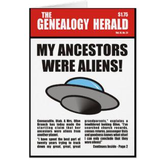 ¡Mis antepasados eran extranjeros! Tarjeta de cump