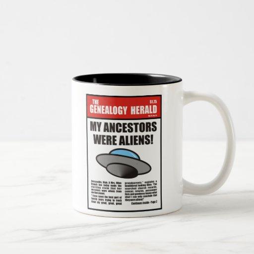 ¡Mis antepasados eran extranjeros! Taza Dos Tonos
