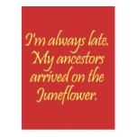 Mis antepasados vinieron de visita en el postal