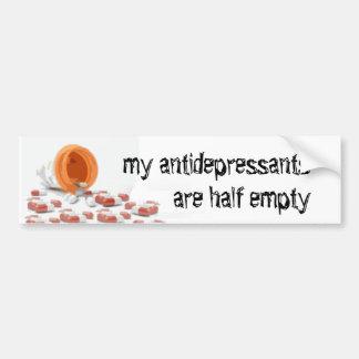 Mis antidepresivos están semivacíos etiqueta de parachoque