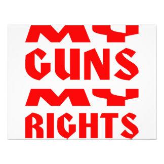 Mis armas las mis derechas anuncio personalizado
