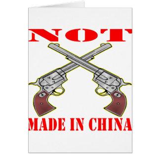 Mis armas no se hacen en China Tarjetas