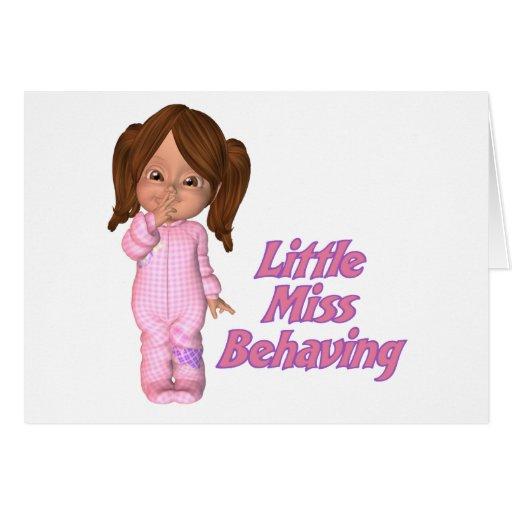 Mis behaving greeting cards