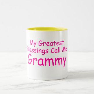Mis bendiciones más grandes me llaman Grammy Tazas