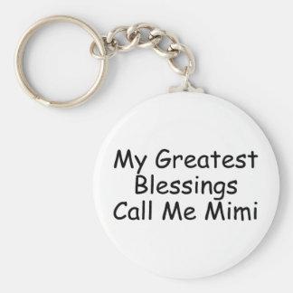 Mis bendiciones más grandes me llaman Mimi Llavero Redondo Tipo Pin