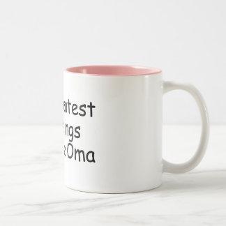 Mis bendiciones más grandes me llaman Oma Tazas De Café