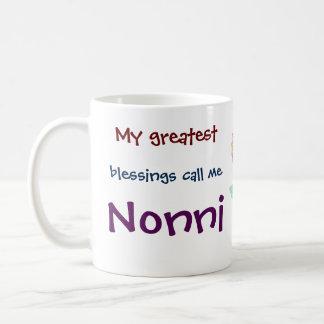 Mis bendiciones más grandes me llaman taza de café