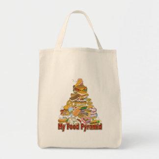Mis bocados de Junk Food del ~ de la pirámide de a Bolsa Tela Para La Compra