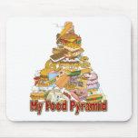 Mis bocados de Junk Food del ~ de la pirámide de a Alfombrilla De Ratón
