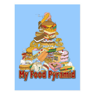 Mis bocados de Junk Food del de la pirámide de a Postal