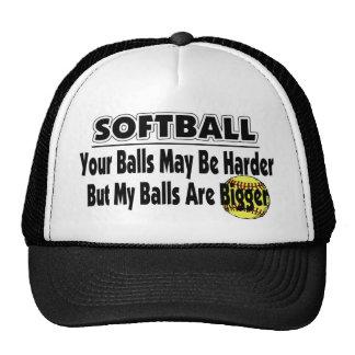 Mis bolas son más grandes gorros bordados