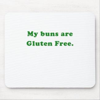 Mis bollos son gluten libre alfombrillas de ratón